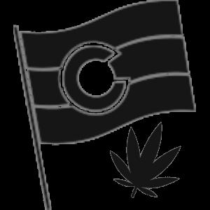 Colorado flag with hemp black